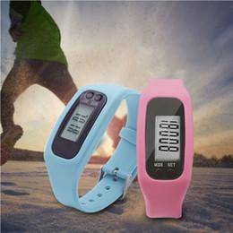 Pedometer Bracelets Canada - Newest Digital LCD Pedometer Watch Run Step Walking Distance Calorie Counter Wrist Watch Multi-function Bracelet Sport
