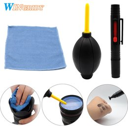 Lens Cleaning Pens Australia - 3in1 LENSPEN Pen Dust Cleaner Camera Cleaning Lens Brush Air Blower Wipes Clean Cloth kit for Camcorder VCR