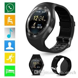 smartwatch y1 UK - Y1 Smart Watches Bluetooth SmartWatch Relogio Android Smartwatch Phone Call SIM TF Camera for Galaxy S9 Plus
