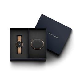 Новый год подарки роскошные женщины кварцевые часы 32 мм Милан часы и ювелирные изделия браслеты мода Леди элегантные часы D-W Рождество с оригинальной коробке