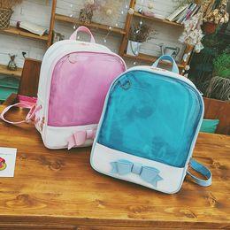 5ce41c167610 Rucksack Kids Harajuku School Bags Cute Clear Transparent Bow Backpack  Kawaii Backpack For Teenage Girls