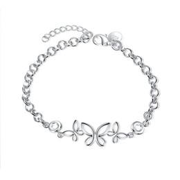 $enCountryForm.capitalKeyWord NZ - New arrival !Three Butterfly Bracelet sterling silver plated bracelet SPB476;high quatity fashion men and women 925 silver Charm Bracelets