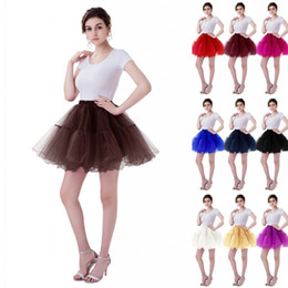 Discount cheap short dresses for weddings - Multi Colored 2 Layers Short Petticoat Tulle Crinoline Hot Sale Underskirt For Wedding Dress Girl Cheap Wedding Accessor