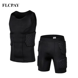 Gear vest online shopping - New Honeycomb Basketball Shorts Vest Tight Football Jerseys Body Protection Male Protective Gear Training Shorts Knee pads Gym