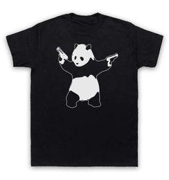 China Banksy T Shirt Panda Guns Graffiti Street Art cheap panda art suppliers
