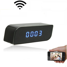 China Wireless WIFI IP Camera 1080P HD Clock Super Camera IR Security Network Mini Cam Home Security Surveillance Camcorders Video Recorder cheap video camera wi fi suppliers