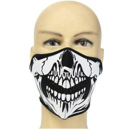 $enCountryForm.capitalKeyWord UK - Bicycle Skull Half Face Masks Breathable Grimace Half Mask Shield Face Mask for Cycling Mountaineering Skiing Outdoor Sports