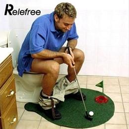 Golf Game Toy Australia - Novelty Toy Toilet Mat Golf Game Durable Universal Mini Green 40*10*3cm Office Men Women Plastic Portable