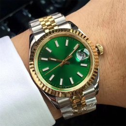 Stainless Steel Unisex Luxury Watches Australia - Luxury Men's Watches 36mm Green Dial Stainless Steel Date 8215 Automatic Mechanical Movement Watch aaa Male's Wristwatches R5