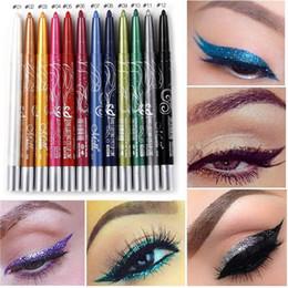 $enCountryForm.capitalKeyWord UK - Black White Eyeliner Pencil Pen Makeup 12pcs Lot Easy To Wear Eyes Tattoo Pigment Waterproof Glitter EyeLiner Beauty