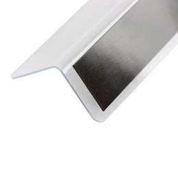 75e55838b Divisor de estante magnético L tira de pvc separada con cinta magnética  estante de exhibición accesorio protector lateral tira