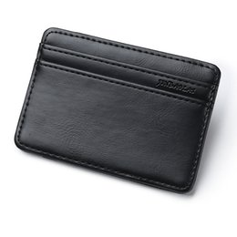 Wholesale New Arrive Fashion Design Men Magic Wallet Elastic Money Wallets Female Small Card Holder Clutch Gift Purse