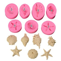 Silicone Handmade Tools Australia - Ocean Series Pearl Conch Starfish Shell Seashell Silicone Mold Fondant Cake Baking Mould Handmade Soap Mold Baking Tool