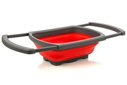$enCountryForm.capitalKeyWord Australia - Kitchen Collapsible Silicone Colander Strainer Sink Basket Funnel Cooking Water Drainager Basket Gadget Free Shipping lin4219