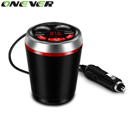 Discount lighters bluetooth - Onever 3 in 1 Bluetooth FM Transmitter Car Music MP3 Player Hands Free Car Kit Cup Holder Cigarette Lighter 2 USB Power