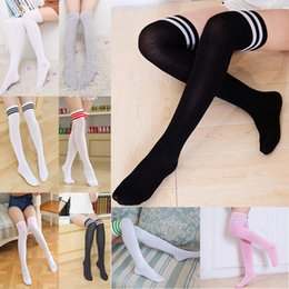 7c467381b Girls striped stockinGs online shopping - Girl Long Tube Socks Women Sexy  Cotton Stripes Knees High