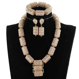 Dubai briDal jewelry set online shopping - Dubai Gold Jewelry Sets for Women Bridal Gift Nigerian Wedding African Beads Jewelry Set Chunky Pendant Necklace WE200