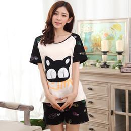 197b43f9b8 Hot Sell Pijamas Summer Sleepwear Suit For Women Men Casual Short-sleeved  Pajamas Couple Pyjamas Sets Patchwork Home Clothing