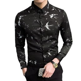 $enCountryForm.capitalKeyWord Australia - 2018 Fashion Flower Print Mens Shirts Classic Long Sleeve Casual Shirt For Men Slim Fit Male Social Business Dress Shirt