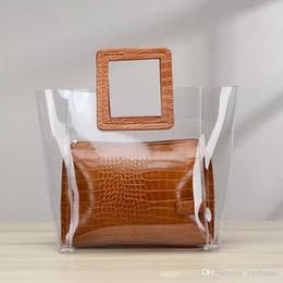 Venta al por mayor de 2019 Nuevos bolsos de diseño de cuero de serpiente en relieve Moda bolso de las mujeres Bolso Crossbody Diseñador de la marca Bolsa de mensajero sac principal Claro plástico