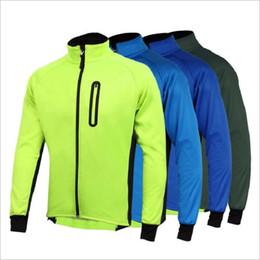 Erkek Ropa Ciclismo Bisiklet Ceketler Rüzgar Geçirmez Su Geçirmez Ceket Sıcak Tutmak Yeşil mavi Bahar Sonbahar Kış Bisiklet Giyim