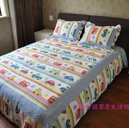 Discount free beds for children - Free shipping!Discount Twin Car Truck Bus Boys Bedding Sets 2 3 Pcs Applique Patchwork Quilt Sets 100% Cotton Bedding fo