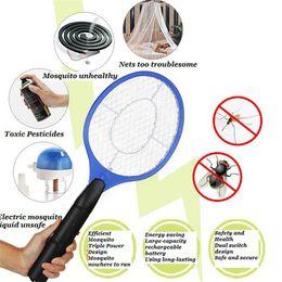 2 batterie AA Azionato Racchetta a mano Zanzariera elettrica Swatter Insetto Giardino domestico Pest Bug Fly Zapper Zapper Swatter Killer