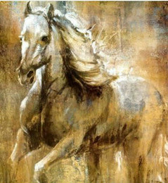 $enCountryForm.capitalKeyWord Australia - Handpainted Modern Horses Animals abstract oil painting Reproduction Canvas Wall Art on canvas Living Room Home Office Decor,Multi Sizes S27
