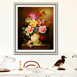 China Pole Australia - New Pattern Diamonds Picture Oil Painting Flowers And Plants Series Restaurant Decoration Painting Fully-jewelled Paste Cross Embroidery