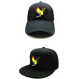 ed972f99217 LDSLYJR 2018 rooster animal embroidery cotton Baseball Cap hip-hop cap  Adjustable Snapback Hats for kids and adult size 197