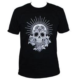 $enCountryForm.capitalKeyWord UK - MEXICAN SUGAR SKULL T SHIRT Goth Graphic Printed Tee Men Women S M L XL XXL
