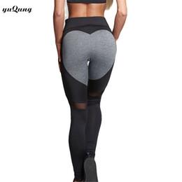 1c00545c5b yuqung Heart-Shaped Leggings Women Fitness Leggings Color Block Autumn Workout  Pants Mesh Insert Sporting legins J41