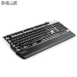 $enCountryForm.capitalKeyWord Canada - E - 3LUE K751 USB Wired Laptop Desktop Aluminum Alloy Keyboard 104 Keys Blue Switch Mechanical Keyboard LED Backlight For Gaming