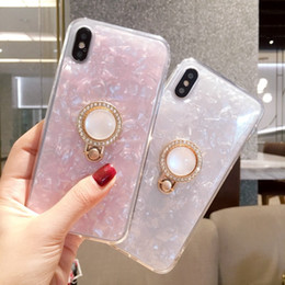 Wholesale Cellphone Case Bracket Phone Shell Drop Protection Cover For iPhone6 plus x Simple Luxury Rhinestone Ring Buckle Bracket