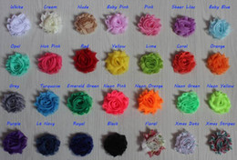 $enCountryForm.capitalKeyWord Australia - Free DHL EMS 60y 1.5 inch petite chiffon shabby flower for girls hair accessories,shabby chiffon flower for baby headband,diy craft supplies