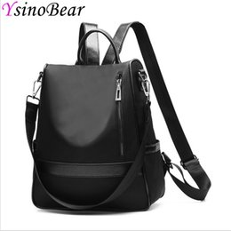 YsinoBear Anti Theft Backpack High Quality Black Oxford Bagpack Detachable  Strap Women Shoulder Bag School Backpacks for Girls ba743c96ccb09