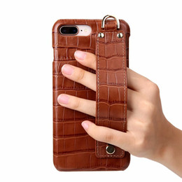 Iphone 6s Genuine Leather NZ - New Phone Cases For iPhone X Xs Max XR Cell Real Genuine Leather For iphone 6s 7 8 plus Back Cover Cute Hand Strap Ultra Thin Hard Case