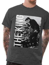 Venta al por mayor de LICENCIA OFICIAL - ELVIS PRESLEY - IICD THE KING T SHIRT ROCK N ROLL Manga corta de verano Camiseta de moda Envío gratis