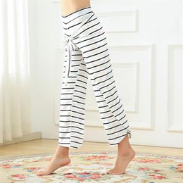 Sweat Yoga Pant Australia - Women's Loose stripe Yoga Pants Women Quick Dry Sport Fitness Leggings Top Quality Anti-sweat Workout Running Dance Pants