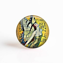 $enCountryForm.capitalKeyWord UK - 2019 25mm Glass Cabochon Art Nouveau Fairy Pendant Alphonse Mucha Art Glass Dome Jewelry Accessories Wholesale