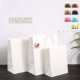 $enCountryForm.capitalKeyWord Canada - Kraft Paper Gift Bag with Handle Festival Jewelry Bags Wedding Birthday Party Gift Package Wrapping Supplies White Color