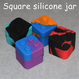 $enCountryForm.capitalKeyWord Australia - Silicone Mats Silicone Square Container lego Wax Jars Dishes Mats Dab Dabber Tool Large Jars Vaping silicone nectar collector FDA Approved