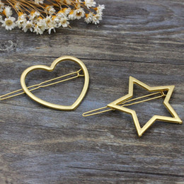$enCountryForm.capitalKeyWord NZ - 10pcs Fashion Women Hairpins Girls Star Heart Hair Clip Delicate Hair Pin Hair Decorations Jewelry Accessories Christmas Gift Wedding