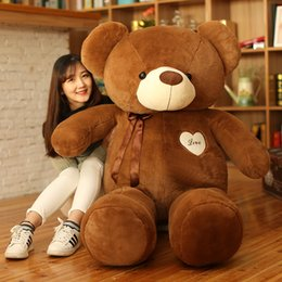 Valentine Gifts Teddy NZ - 180CM huge Teddy Bear Plush Toys Soft Stuffed Animals Bear Holiday Gift Birthday Gift Valentine Brinquedos