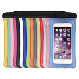 Mobile Interfaces NZ - Float Air Bag Design Armband Waterproof Mobile Pouch Phone Bag Case with Transfer Line Interface for 5.8 Inches Phone