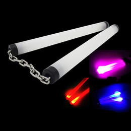 Martial arts gifts wholesalers online shopping - Luminous Nunchucks Stage Perform Prop Colorful LED Light Up