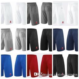 2018 homens LA anjos Shorts branco cinza preto azul marinho vermelho desempenho de franquia Shorts tamanho S M XL XXL XXXL calções de beisebol Jerseys em Promoção