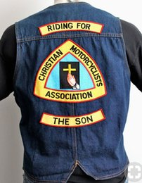 $enCountryForm.capitalKeyWord NZ - RIDING FOR THE SON Patch Rocker Biker Motorcycle Club Jacket Vest Morale MC Back of Jacket Iron on Clothing Vest Parch Free Shipping