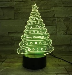 $enCountryForm.capitalKeyWord NZ - Christmas gift Christmas tree night light 3D creative remote control colorful LED small table lamp visual light 692