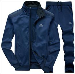 Body Fitness Suit Australia - Mens Sets Sport Suit Men Running Gym Sport wear Tracksuit Fitness Body building Mens Hoodies+Pants Sport Suits Male Clothing Set